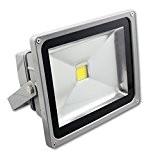 SAILUN 50W LED Fluter Floodlight Strahler Licht Scheinwerfer Außenstrahler Wandstrahler Silber Aluminium IP65 Wasserdicht AC 85 - 265V WarmWeiß