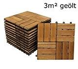SAM® Sparset: Akazienholz Balkonfliesen 02 33 Stück für 3 m²