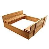 Sandkasten Klappdeckel Sandkiste Sitzbank Sandbox Holz