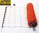 Schafnetz Schafzaun 90cm hoch, 50m lang, inkl. 14 Stäbe mit Metallspitze auch für größere Hunde geeignet!