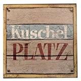 Schild - Kuschelplatz - Blechschild Shabby Vintage Türschild