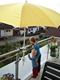 SCHIRMHALTERUNG für Schirmstöcke 25,5 mm bis 53 mm Ø - 2 Stück - SONNENSCHIRMHALTER für BALKONGELÄNDER für Außen oder Innen ...