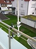 Schirmstöcke 25,5 - 55 mm Ø - 2 Stück - BALKON - Distanz - SONNENSCHIRMHALTER für BALKONGELÄNDER für Außen oder ...