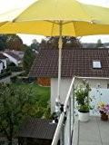 Schirmstöcke 25,5 bis 42 mm Ø - 2 Stück- Distanz SONNENSCHIRMHALTER für BALKONGELÄNDER für Außen oder Innen Befestigung -