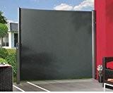 Seitenmarkise ausziehbar anthrazit 180x350cm - Sichtschutzzäune Sichtschutzwand Gartensichtschutz Balkonsichtschutz Winschutz Sichtschutzwand für Garten und Terasse Blichschutz für Balkon Sichtschutzw