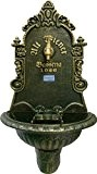 SET: Wandbrunnen ALT WIEN grün/gold und Schlauchhalter grün/gold