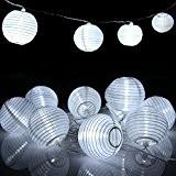 ShiRui Solar Lichterketten 6m 30 LED ist nicht Lampion wasserdicht IP65 Außensolarbetriebene Lichterketten für Garten, Haus, Weihnachtsbaum, Hochzeitsgesellschaft (Naturweiss)