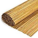 Sichtschutz - Bambusmatte Bambus flach gespalten Natur 100x500cm