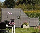 Sichtschutz Polyrattan Geflecht anthrazit, 178 x 178cm - Sichtschutz, Sichtschutz Elemente, Sichtschutzwand, Windschutz