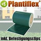 Sichtschutz Rolle 35m blickdicht PVC Zaunfolie Windschutz für Doppelstabmatten Zaun (Grün)