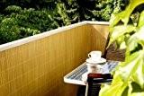 Sichtschutzmatte PVC 0,9x3m Farbe: bambus