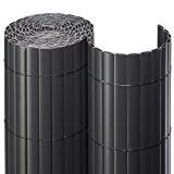 Sichtschutzmatte PVC Rollenlänge 3m Größe 1,80x3 m Farbe anthrazit