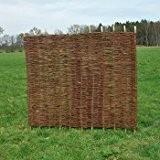 Sichtschutzzaun - Weidenzaun / Flechtzaun 'Stick' als Sichtschutz und Windschutz 1 Stück, 180 x 120 cm
