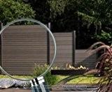 Sichtschutzzaun WPC System Set anthrazit, 178x183cm - Sichtschutz, Sichtschutz Elemente, Sichtschutzwand, Windschutz, Sichtschutzzäune