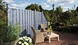 Silbergraues WPC Zaun-Element im Maß 90 x 180 cm ( Breite x Höhe ) aus einem hochwertigen 60/40 Holz/Kunststoff-Komposit Material ...