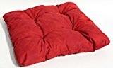 Sitzkissen für Gartenmöbel Indoor Dekokissen Polster ca. 38x38cm rot leicht marmoriert
