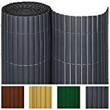Sol Royal PVC Sichtschutz-Matte SolVision - 180x400cm Anthrazit - Windschutz Sichtschutz-Zaun fr Garten oder Balkon