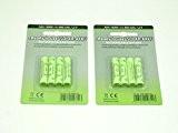 Solar-Akku 2x 4 er Set Solar-Batterie leistungsstarke, wiederaufladbare Batterien AAA NiMH, 800mAh