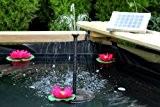 Solar Springbrunnen Teichpumpe für Garten, Höhe: 0,70 m, 2 Watt