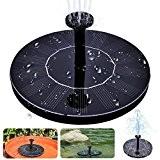 Solar Vogel-Bad-Brunnen, MAXIN Freie stehende 1.4W Sonnenkollektor-Installationssatz-Wasser-Pumpe, im Freienbewässerung Tauchpumpe für Vogel-Bad, Fisch-Behälter, kleiner Teich, Gartendekoration