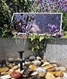 Solar-Wasserpumpen-Set - 300l/h mit LED-Beleuchtung