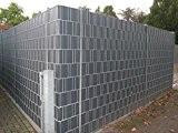 Sonderposten - 10 Sichtschutzstreifen Hellgrau im Set - Hart PVC -Sichtschutz - Windschutz - Zaunstreifen zum Einflechten - Doppelstabmatten Zaun ...