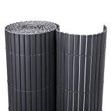 Songmics PVC Sichtschutzmatte 80 x 1000 cm (Zusammengesetzt aus 2 Matten, je 80 x 500 cm) GPF081G