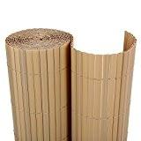 Songmics PVC Sichtschutzmatte 90 x 800 cm (Zusammengesetzt aus 2 Matten, je 90 x 400 cm) GPF098M