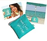Sonnenschirm Ständer - SOLBOY - Der Schirmständer für den Strandschirm, Sonnenschirmhalter (SONDEREDITION TÜRKIS)