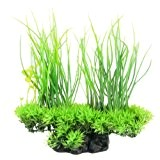 sourcingmap® Künstliche Wasser Aquarium Gras Lang Blatt Pflanze Landschaft Decor - Grün/Gelb
