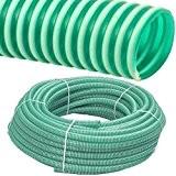 Spiralschlauch PVC Druckschlauch und Saugschlauch Meterware 1 bis 4 Zoll (3/4 Zoll / 19 x 2.6 mm)