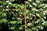 Stabiler Doppel - Laternenstab in Rost H: 180cm Laternenhaken zum Stecken Blumenampel