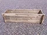 stabiler Holzkomposter Komposter Kompostbehälter Hochbeet 195 x 65 x 51 cm 19 mm