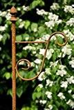 Stabiler Laternenstab in Rost H: 190cm Laternenhaken zum Stecken Blumenampel