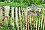 Staketenzaun Kastanie 5m, Höhe ca. 100 cm, Lattenabstand ca. 6-8 cm