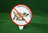 Steck-Schild, Hier kein Hundeklo, Verbotszeichen, Häufchen machen verboten, JETZT GRÖSSER!