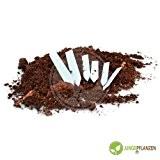 Stecketiketten Pflanzenetiketten 1,6 x 10 cm aus Kunststoff weiß 100 Stück