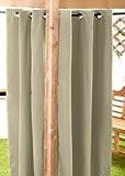 Stein Wasserfest Fertige Außen Ösen Vorhang 139.7 x 182.9 cm Pavillon Sommer Haus