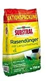 Substral Rasen-Dünger mit Langzeitwirkung - Qualitätsrasendünger mit bis zu 3 Monaten Langzeitwirkung für Sport,- Spiel - und Zierrasen - 15 ...