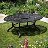 Summer 195 x 145cm Ovales Gartenmöbelset - 1 SUMMER Tisch + 8 APRIL Stühle