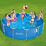 Summer Waves Frame Pool 366x91cm Rahmen Swimming Pool Familien Schwimmbad mit Filterpumpe