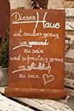 Tafel mit Welle - Dieses Haus - Schild zum Aufhängen Gedichttafel Spruch