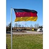 Teleskop Fahnenmast 4m Alu & Deutschland Fahne
