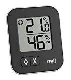 TFA 30.5026.01 Dostmann digitales Thermo-Hygrometer Moxx, schwarz, 5.7 x 1.3 x 6.9cm