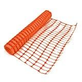 True Products b1003a 5,5kg 1m x 50m Medium Kunststoff Mesh Sicherheit Netz Barriere Zaun Rolle-Orange (1)