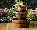 Ubbink AcquaArte Edinburgh Springbrunnen Set Holzfass