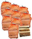 ungefähr 10 Säcke mumba-Anfeuerholz (insgesamt ca. 30kg) Fichte / Kiefer, Scheitabmessungen ungefähr 15-17 x 40-45 x 190 mm