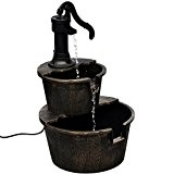 vidaXL Garten Brunnen mit Wasserpumpe