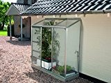 Vitavia Anlehngewächshaus Ida - Ausführung: 1300 HKP 4 mm Alu, Fläche: ca. 1,3 m², mit 1 Dachfenster, Sockelmaß: 0,65 x ...