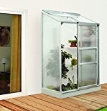 Vitavia Anlehngewächshaus Ida - Ausführung: 900 HKP 4 mm Alu, Fläche: ca. 0,9 m², mit 1 Dachfenster, Sockelmaß: 0,65 x ...
